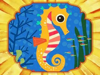 Казка про подорож морського коника з рибками лососями...